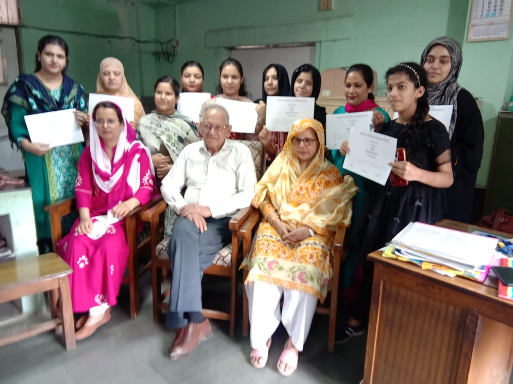 Certificate Ceremony of Baking Class at 20-03-21